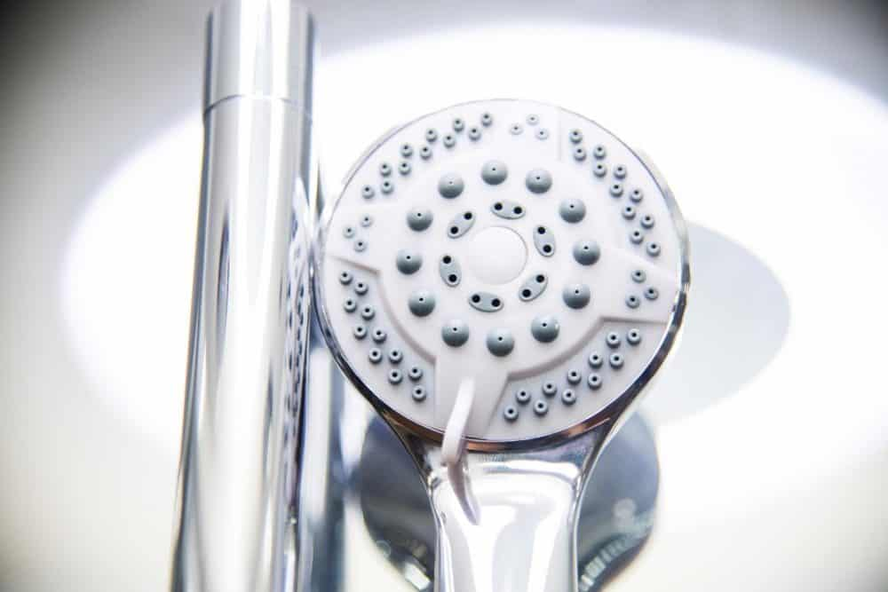 Clearwater Right White Shower Head