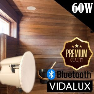 Top Quality Bluetooth Sauna, Bathroom & Kitchen Ceiling Speakers – 60W Moisture Resistant