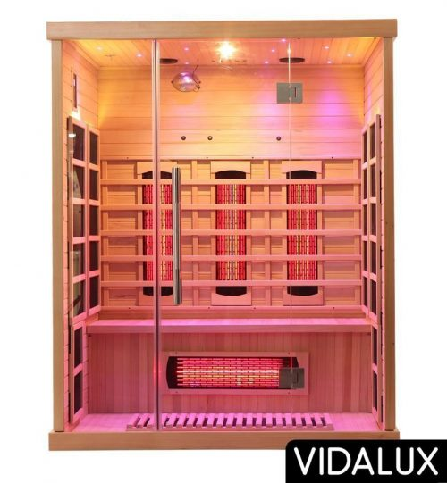 Vidalux 3 person full spectrum sauna