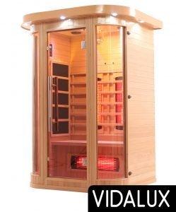 Vidalux 2 curved person full spectrum sauna